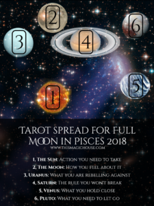 Tarot spread for the full moon in Pisces 2018