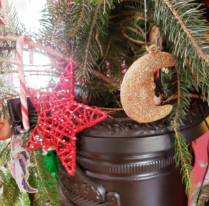 star and moon ornaments